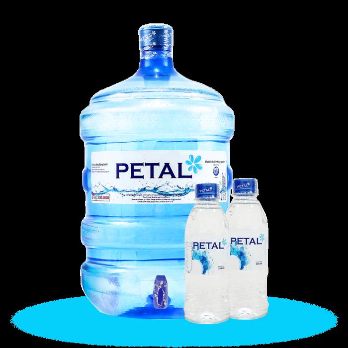 Nước tinh khiết Petal đóng bình, chai