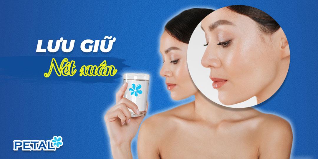 Uống nước đúng và đủ là giải pháp hiệu quả giúp da da mịn, dáng xinh