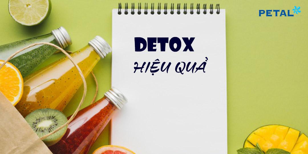Cách detox cơ thể hiệu quả